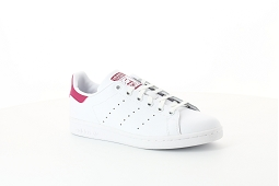 8598 STAN SMITH J:Cuir/Blanc/Rose/