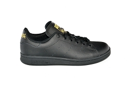 43411 STAN SMITH J:Cuir/Noir/Or/