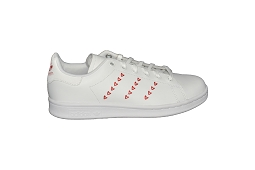 9190 STAN SMITH J:Cuir/Blanc/Rose/