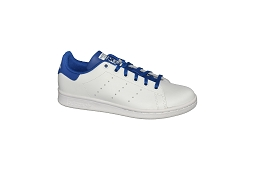 F91260 STAN SMITH J:Cuir/Blanc/Blue/