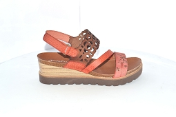 TRAILBLAZER WEDGE 9102:Cuir/Corail/Imprimé/
