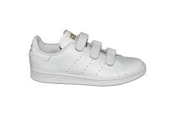 CAMPUS J STAN VELVRO CF ADULTE:Cuir/Blanc/Or/