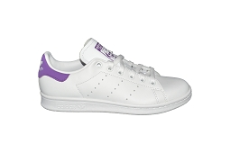 COURT SET STAN SMITH W:Cuir/Blanc/Violet/
