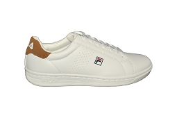 MADRID F CROSSCOURT 2F LOW:Cuir/Blanc/Cognac/