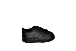 COW LEATHER SUPERSTAR I:Cuir/Noir/Noir/