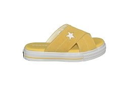 STAR PLAYER ONE STAR SANDAL SLIP:Toile/Jaune//