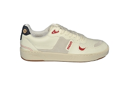 ARCADE LOW BLANC CEIBA LEATHER:Cuir/Blanc/Rouge/