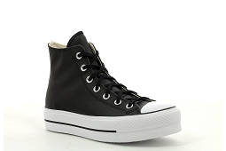 SUPERSTAR CRIB CTAS LIFT HI CLEAN:Cuir/Noir/Blanc/