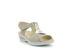 CTAS MONO OX TOILE 1239055:Cuir/Taupe//