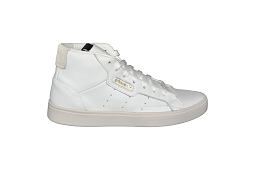 JR CORE OX CUIR SLEEK W MID:Cuir/Blanc/Blanc/