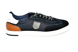 MADRID F 91 802:Cuir/Navy/Blanc/