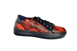 GAZELLE W 8397:Cuir/Orange/Python/