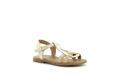 STAR PLAYER TILOU:Cuir/Or/Cognac/