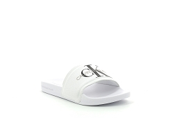 DESERT LONDON SLIDE F MONO CO:Cuir/Blanc//