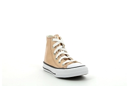 LIFT HI LTHR CHUCK TAYLOR HI JR:Rose/Or/