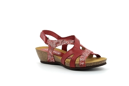 9153 4162:Cuir/Rouge/Multi/