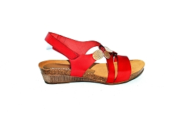 SLIDE MONO CO 1062:Cuir/Rouge/Multi/