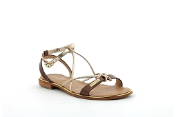 HIRONDEL<br>Cuir Tan Or